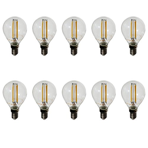 V-TAC lot de 10 e14 4W filament ampoule r45 transparent blanc chaud 2700 k 300 lumens ° 400 K