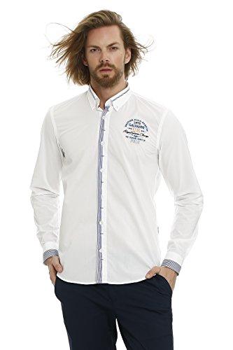 GALVANNI Stevens Camisa Casual, Blanco (White Multi 1022), XX-Large (Tamaño del Fabricante:XXL) para Hombre