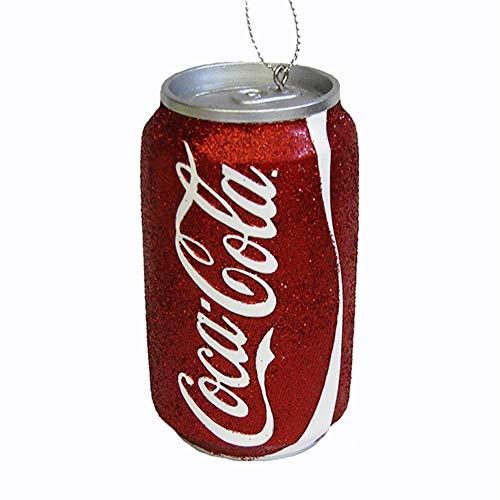 Kurt Adler Red Glittered Classic Coke Can Ornament