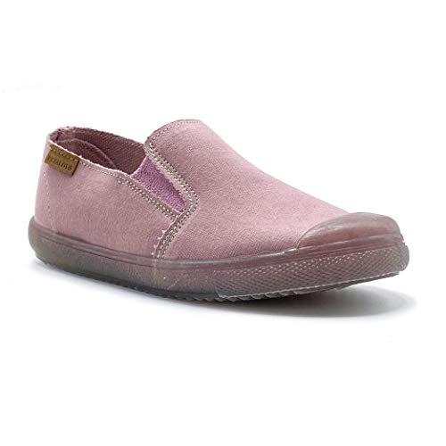 Zapatillas de Lona ecológica para niña y niño/Bambas Infantiles con aromaterapia antimosquitos/Calzado Infantil con Cierre de Elastico/fabricacion en España (Rosa, Numeric_28)