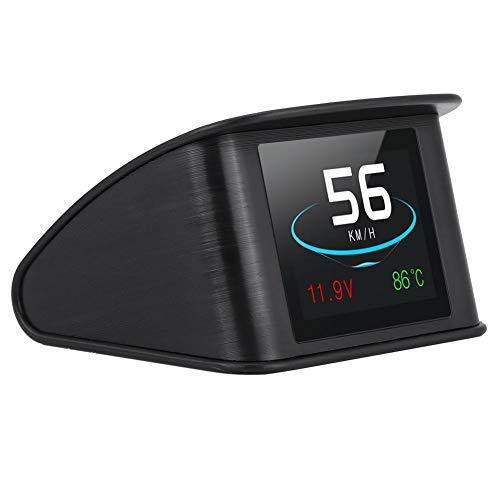 Digitale snelheidsmeter, universeel, hoge weergave van de kop, HUD OBD2, snelheidswaarschuwing, brandstofverbruikmeter.