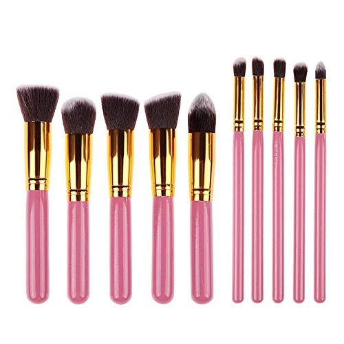 10 PCS Kit de maquillage Kit de pinceau Poudre Pinceau Pinceau Soft Brush Tools Kit Oeil Doublure Soft Naturel-Synthetic Cheveux Coiffures Kit pinceau (Handle Color : G10 008)