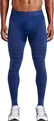 Nike Men's Pro Hyperrecovery Tight (Royal Blue & Gray) Large