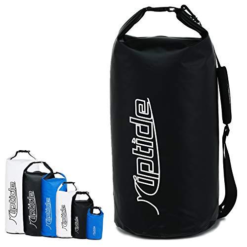 riptide Dry Bag - wasserdichter Packsack mit Umhängegurt   schwarz   30l