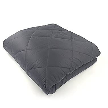 Hypnoser King Size Weighted Gravity Heavy Blanket for Couple - (80 x87  30 Lbs - with Duvet Cover) - Great Sleep Therapy for People with Anxiety, Autism, ADHD, Insomnia or Stress - Light Black