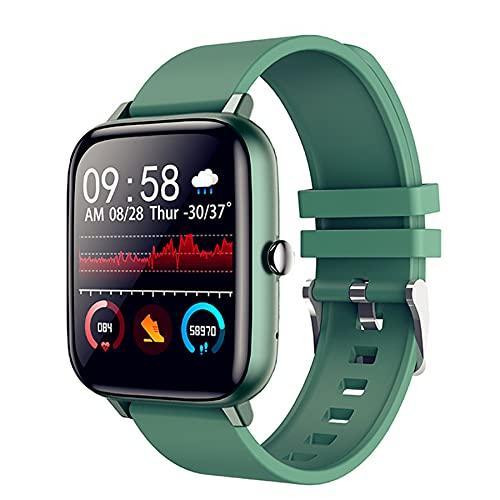 OKMJ 1.54 InchSmart Watch Screen Screen Activity Fitness Tracker con Ritmo cardíaco y Monitor de sueño IP68 Pedómetro Deportivo Impermeable para Hombres Contador para Hombres y Mujeres