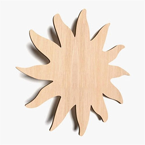 10x Sonne blank Holz Form Basteln Bemalen Dekoration Kinderzimmer (X71)