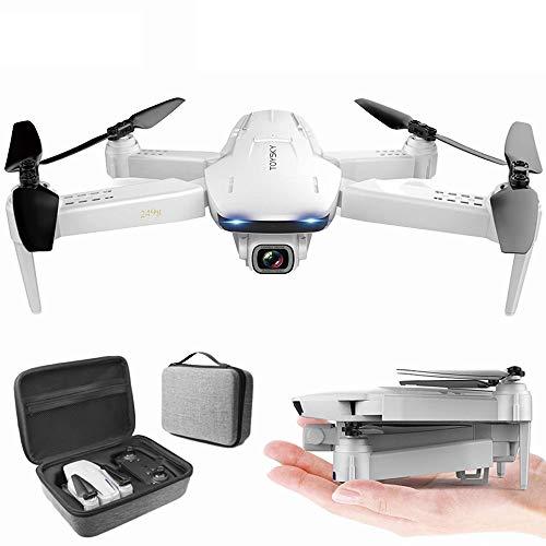GYZLZZB Cámara HD 4K Control Remoto Drone, WiFi FPV Video en Tiempo Real Quadcopter, Tiempo de Vuelo de 18 Minutos, con despegue de un Solo botón y Aterrizaje/Retorno, Adecuado para Principiantes y
