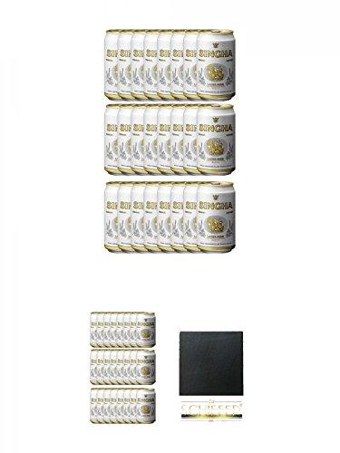 Singha Thailand Bier 24 x 0,33 Liter in Dose inklusive Dosenpfand + Singha Thailand Bier 24 x 0,33 Liter in Dose inklusive Dosenpfand + Schiefer Glasuntersetzer eckig ca. 9,5 cm Durchmesser