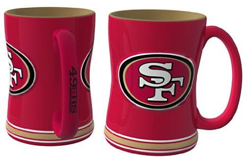 NFL Sculpted Coffee Mug, 15 Ounces, San Francisco 49ers