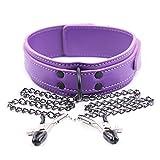 HUSHUS fantasía Cuero Púrpura con Cadena de Hierro