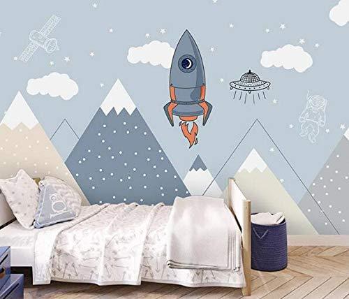 Papel Pintado Murales Poster Rocket Landscape Imágenes Kids Room Pet Shop Foto Fondo De Pantalla-150Cmx105Cm