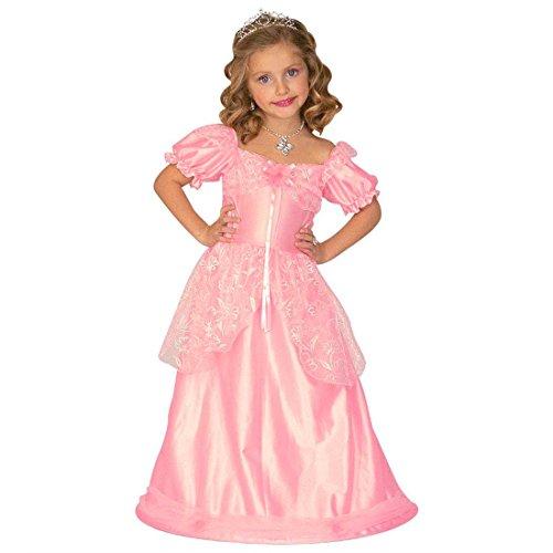 NET TOYS Enfants Princesse Costume déguisement pour Enfant Robe de Princesse Conte Robe déguisement de Princesse Rose S 116 cm 5-6 Ans