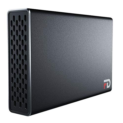 FD Duo - 8TB Portable SSD 2 Bay RAID - USB 3.2 Gen 2 Type-C - RAID0/RAID1/JBOD - Black - Made with Aluminum - Transfer Speed up to 1000MB/s - (DMR8000S)