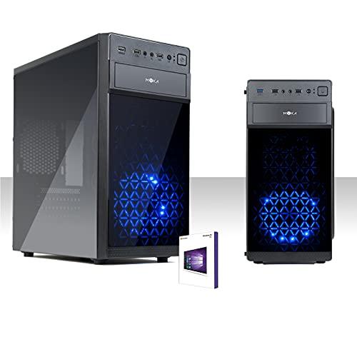 Desktop PC Blue Led Intel Quad Core Windows 10Pro/Wifi/Hd 1Tb Sata III/RAM 8Gb/Hdmi-Dvi-Vga/Usb 2.0 3.0 /DVD-RW/Pc completo pronto all'uso, ufficio, casa