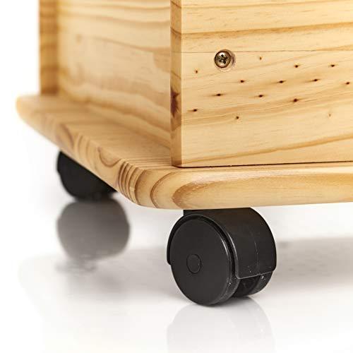 Zeller 13182 Spielzeugkiste mit Rollen, Kiefer, 73×39.5x45cm - 4