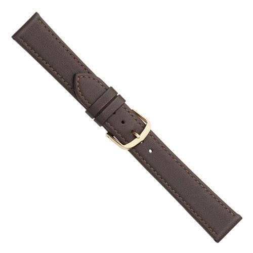 Uhrbanddealer Damen Uhrenarmband 14mm XL Ersatzband Dream Leder Extra Lang Braun 2168141g