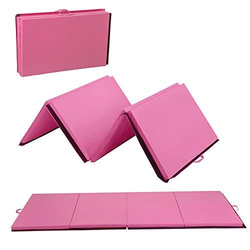 BestMassage 4'x10'x2 Thick Folding Panel Gymnastics Mat Gym Fitness Yoga...