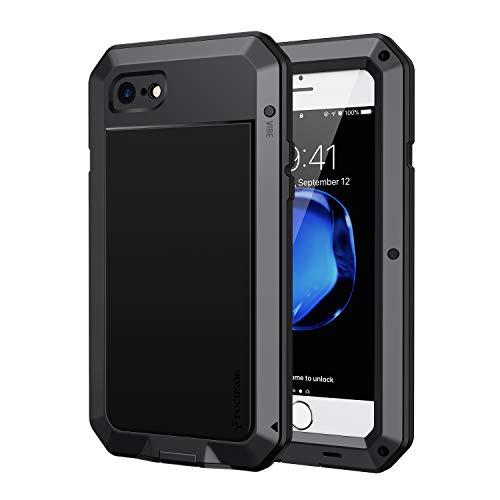 Focusor Cover iPhone 8 Antiurto,Cover Antiurto iPhone 7[Resistente e Rugged]Robusta e Militare,Custodia Anticaduta,Con protezione dello schermo integrata per iPhone 8 / 7,Nero