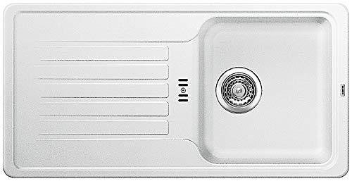 Blanco Favos 45 S, Küchenspüle aus Silgranit, Weiß, reversibel / mit 3 1/2