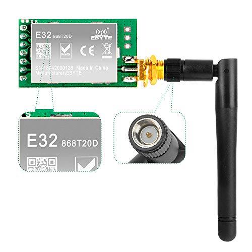 OSOYOO SX1276 LoRa Radio Inalámbrico 868Mhz UART Módulo Serial LoRaWAN Transmisor Receptor + 868Mhz 3dBi SMA Antena, Compatible con Arduino STM32 51 Microordenador de un solo chip