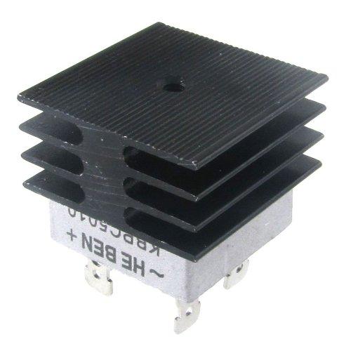 SODIAL(R) Rectificador Puente 50A 1000V Caja de Metal con Disipador