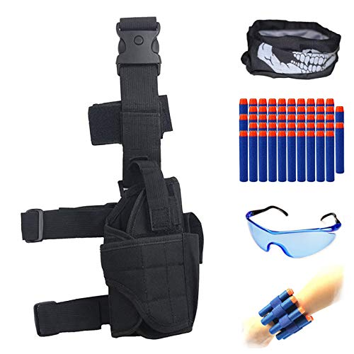 HONGCI Kinder verstellbar Tactical Bein Holster Kit für Nerf Spielzeug Gun N-Strike Elite Series
