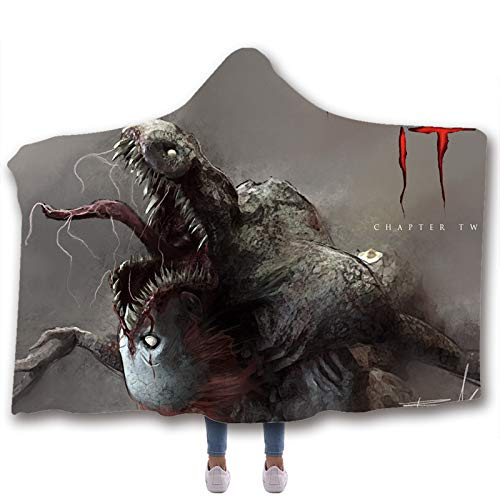 Upupto 3D Scary Character Blanket for Kids Adult Hooded, Wearable Hood Throw Blankets Wrap Toddlers Blanket Gift Cozy Magic Cloak,A,200 * 150cm