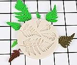 HengKe Leaf Fondant Silicone Mold, Fern Mold,2 Piece 3D Mini Maple Shaped Leaves DIY Cake Mold Cupcake Decoration, Gum Paste Fondant Mold Cake Border Cupcake Silicone Lace Mat Mold