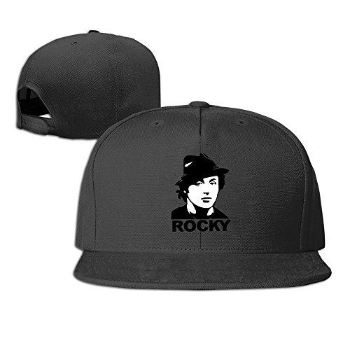 Yhsuk 1976 Sports Boxing Action Movie Classic Rocky Balboa Image Unisex Fashion Cool Adjustable Snapback Baseball Cap Hat One Size Black