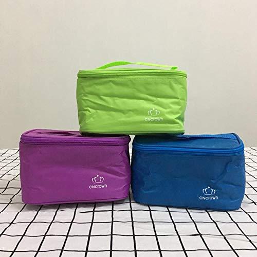 EMOHKCAB 3 stuks draagbare lunchzak van hoge kwaliteit goedkope lunchbox draagtas fles picknick zakje container school voedsel opbergtas