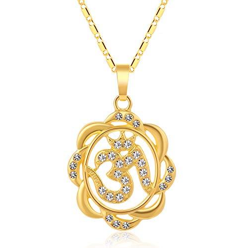 Nobrand Mode Aum Om Hindu Buddhist Anhänger Halskette Hinduismus Yoga Indien Für Männer/Frauen Gold Farbe Religiöser Schmuck Bijoux