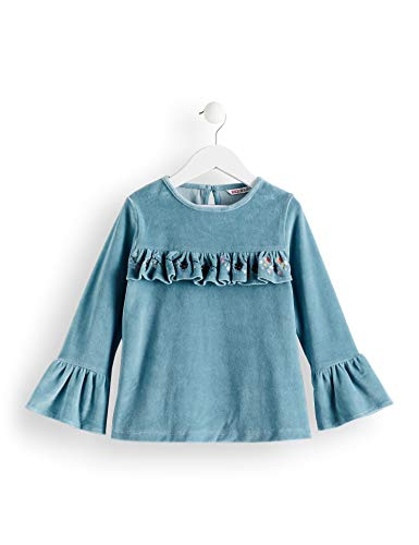 Marca Amazon - Red Wagon Velvet Frill Shift Dress, Blusa para Niñas