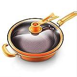 MZG Pan for cucinare a casa, padella senza fumo di olio.