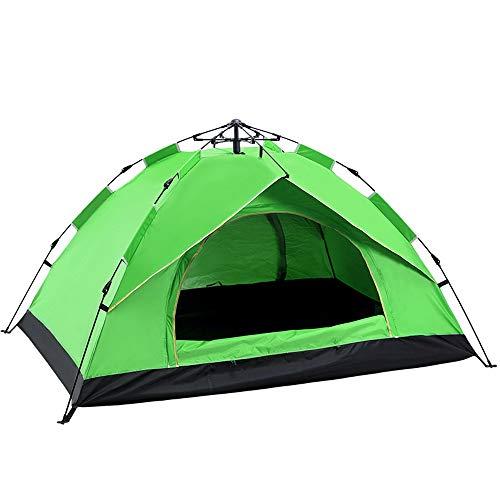 KANGLE-DERI Tende da Campeggio all'Aria Aperta, Completamente Tende Automatiche per 2-4 Persone, A Molla di Apertura Rapida Tende da Sole Antipioggia,Verde,Twopeople