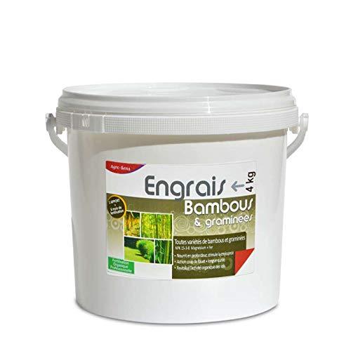 Engrais Bambous et graminées. Fertilisant Organique Complet, Seau 4 kg