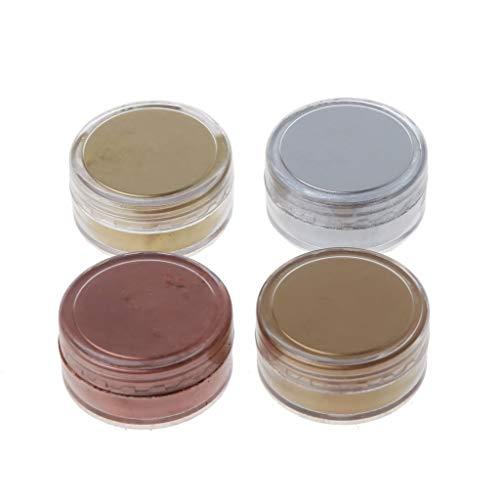zhiwenCZW 4 Farben Metall Brozne Golden Pearl Pulver Epoxidharz Farbstoff Glitter Marmor Metallic Pigmentharz Farbstoff Schmuckherstellung