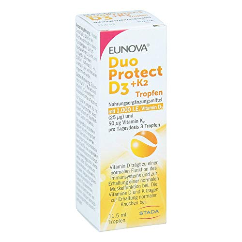 Eunova DuoProtect D3 + K2 1000 I.E. Tropfen, 11.5 ml