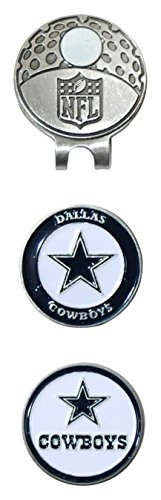 Team Golf NFL Dallas Cowboys Golf Cap Clip with 2 Removable Double-Sided Enamel Magnetic Ball Markers, Attaches Easily to Hats