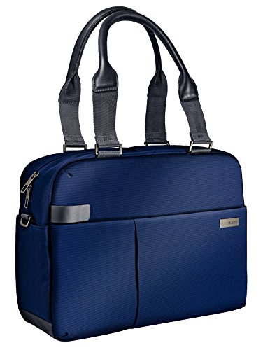 Leitz, Business Laptop-Schultertasche für 13.3 Zoll Laptop oder Ultrabook, Smart Traveller, Complete, Titan Blau, 60180069