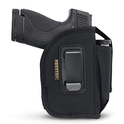 IWB Tactical Gun Holster with Mag Pouch | Fits: M&P Shield, Ruger, Springfield 3.3' Barrel, Sig, S&W MP Compact, Taurus PT111, H&K Compact with Small Laser