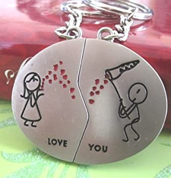 love keychains romantic couple set