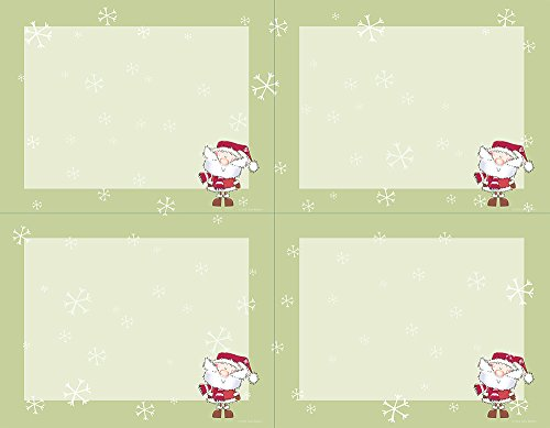 Great Papers! Merry Christmas Santa 4-Up Postcard, 10 sheets/40 postcards, 5.5' x 4.125' (912947)