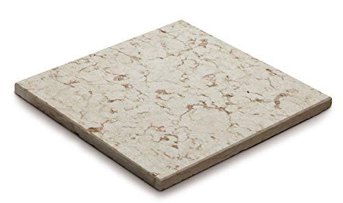 WUEFFE Pavimento in Pietra graffiato - mattonella piastrella Giardino (50x50 cm, 8 Pezzi)