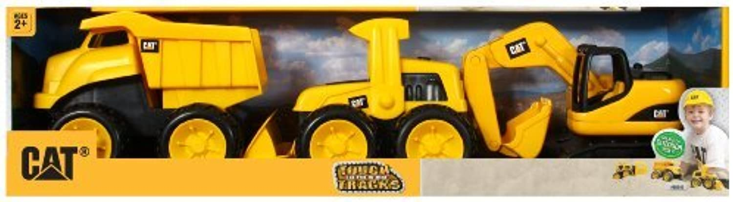 Toy State Caterpillar Tough Tracks, (3 x 1.5 x 2) (each item varies in size) by Toystate