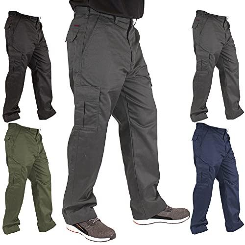 Lee Cooper LCPNT205_GRY32_42 męskie spodnie bojówki, szare, 42W/31L (normalne)
