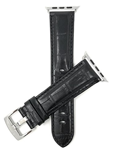 Bandini Correa de repuesto para Apple Watch 42 mm, negro, extra larga...