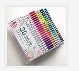 Lápiz para colorear, rotulador de doble punta, adecuado para adultos, niños, cómics, caligrafía, graffiti, bocetos de plumas de acuarela de punta fina