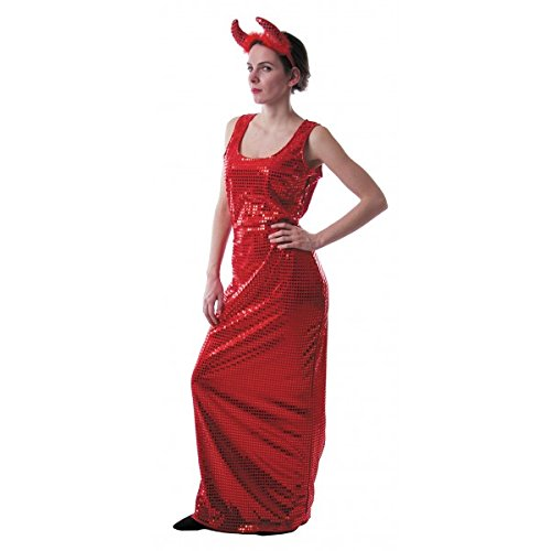 Party Pro 86558, Déguisement Robe Glamour sequins ROUGE, adulte