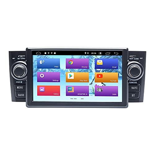 Radio de coche Android 10.0 para Fiat Grande Punto Linea 2007-2012 GPS estéreo de coche con salida RCA completa Wifi OBD SWC